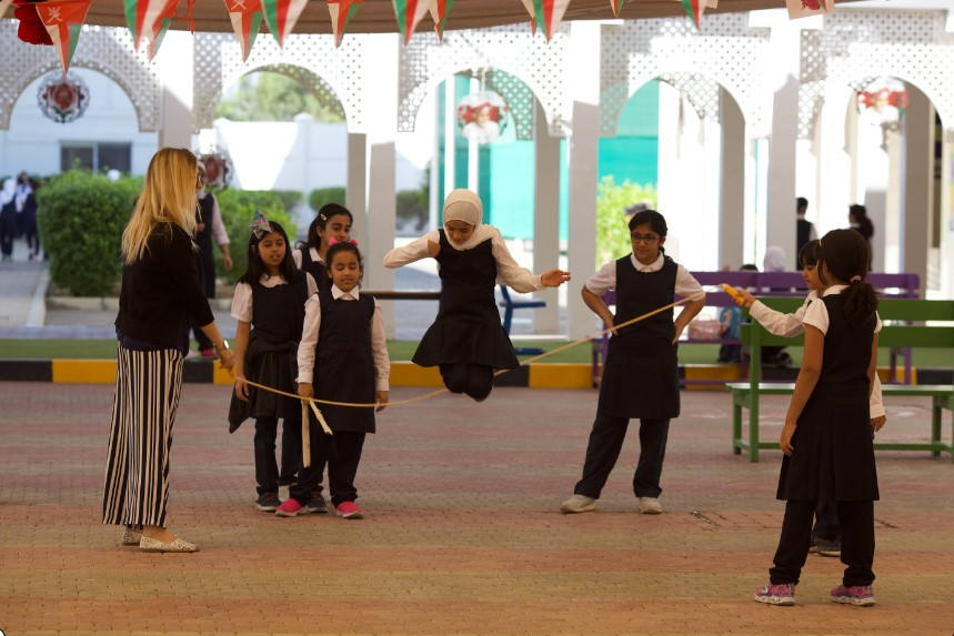 International school in Oman, kids playing