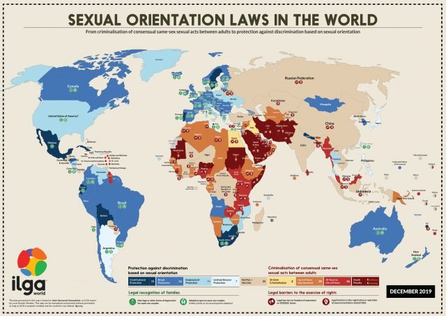 Map of sexual orientation laws