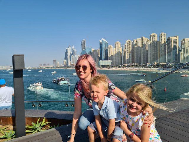 Family on the ocean