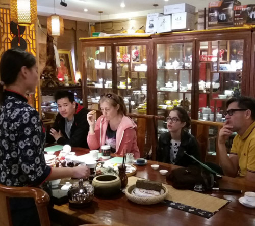 Julia Clegg tea tasting in China
