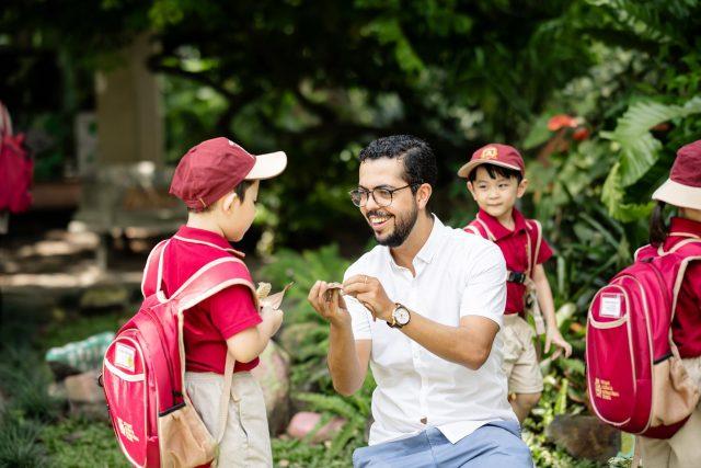 Teacher and student at Vietnam Australia International School