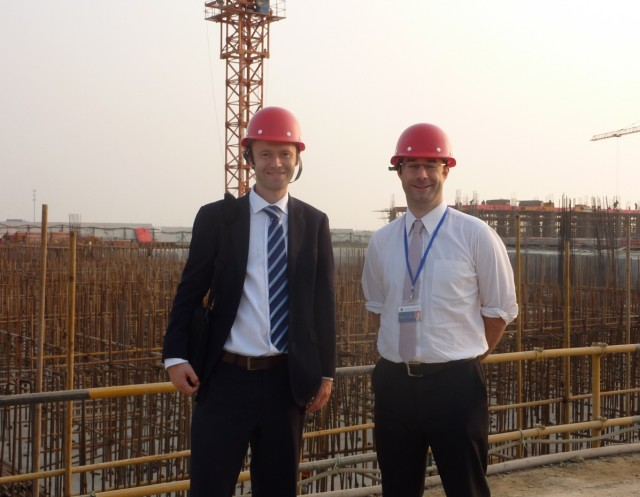 At the impressive new site of Oxford International College Changzhou with the Head, Olly Wells