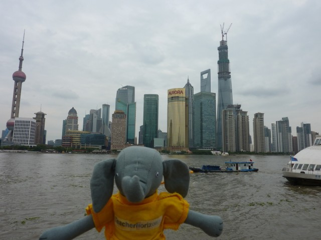Eddie takes in the extraordinary skyline in Shanghai, such a great city