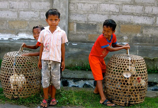 Local kids, a village in Bali