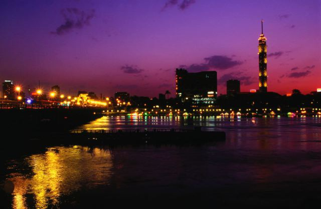 Teaching in Egypt - Cairo at night