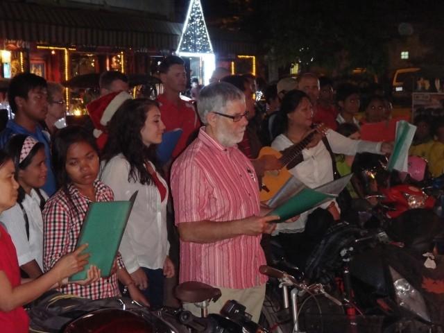 Carol singers in Siem Reap