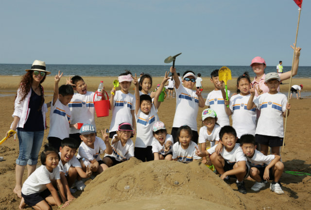 Sand sculpture day with my class at the beach