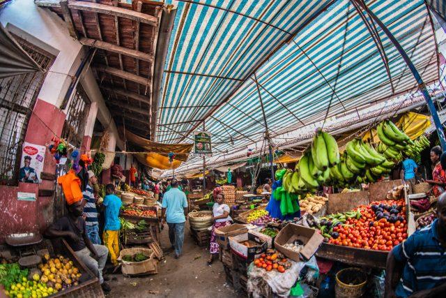 Fruit market in Kenya