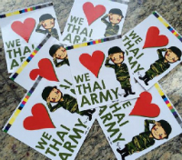 Bangkok since the coup - Thai army stickers